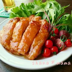 This is really crispy ~ ♪ skin Paris teriyaki chicken ♪ Home Recipes, Asian Recipes, Cooking Recipes, Teriyaki Chicken, Asian Cooking, Japanese Food, Japanese Recipes, Poultry, Sausage