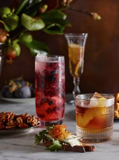 Raindrops and Roses: Photo Fun Drinks, Yummy Drinks, Alcoholic Drinks, Yummy Food, Beverages, Pomegranate Gin, Gin Fizz, Christmas Cooking, Different Recipes