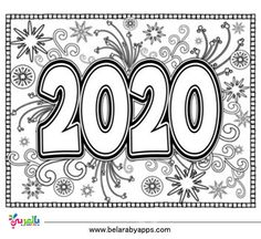 Top 10 New Year 2020 Coloring Pages Free Printable بالعربي نتعلم New Year Coloring Pages Free Coloring Pages Free Printable Coloring Sheets