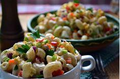 #Salade de #macaronis #recette #moutarde #vinaigrette l Follow Sophie's Store on Pinterest