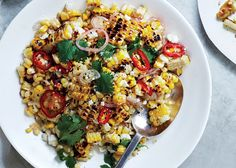 Charred and Raw Corn with Chile and Cheese Recipe - Bon Appétit