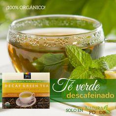 Llena tu cuerpo de las bondades de este té verde. Aparte de ser una fuente alta de antioxidantes, es totalmente descafeinado y un gran digestivo. Adquiere el tuyo en http://naturafoodsmarket.com/producto/caf-y-te/te-verde-descafeinado-con-limon-organico-40-bolsas-2/