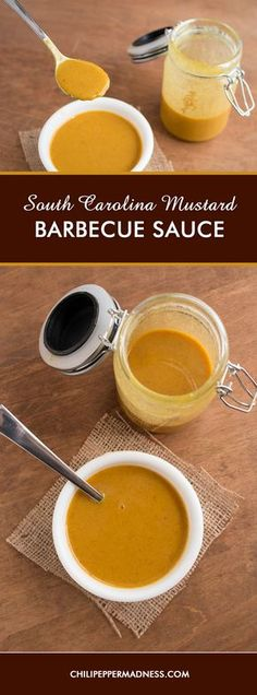 South Carolina Mustard Barbecue Sauce -  Get your smokers and grills ready for summer with this classic mustard-based barbecue sauce from South Carolina. It goes perfectly with pork. Here is the recipe.