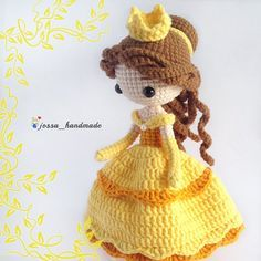 Princess Belle Inspired Crochet Doll Pattern (Amigurumi Doll Pattern / PDF Crochet Doll Pattern / English Pattern)Princess Belle Inspired Crochet Doll Pattern ======================================================== This is a Softcopy and Digital Do Crochet Pikachu, Crochet Doll Pattern, Crochet Patterns Amigurumi, Amigurumi Doll, Crochet Dolls, Easy Knitting Projects, Crochet Projects, Creative Knitting, Knitting Ideas