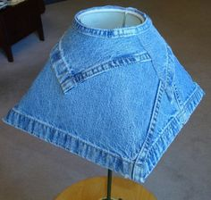 decorating with recycled denim | Creative and Brilliant Unique Ideas of Lampshades Design for Room ...