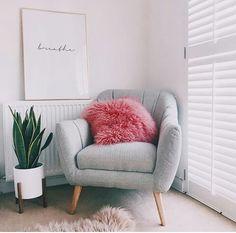 Comfy chair in bedroom