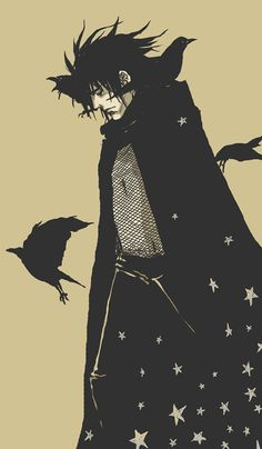 Morpheus from Neil Gaiman's Sandman series (art by *HamletMachine)