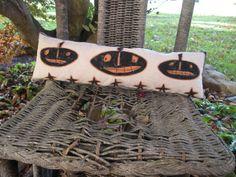 Halloween Primitive Pumpkins Shelf or Chair by WhimsicalFolk, $12.00