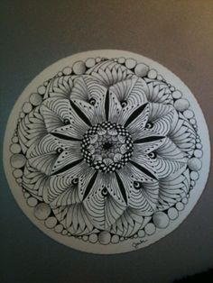 Zentangle Mandala | Zentangle | Zentangle-MANDALA