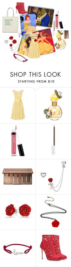"""""""That one? But you`ve read it twice!"""" by found-herself-in-wonderland-13 ❤ liked on Polyvore featuring Disney, Kaliko, Marc Jacobs, Bare Escentuals, BBrowBar, Urban Decay, Betsey Johnson, Bling Jewelry, Avanessi and Dolce&Gabbana"""
