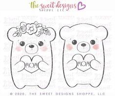 Cute Dragons, Cute Bears, Wet Felting, Kawaii Cute, Cute Disney, Digital Stamps, Cute Illustration, Felt Crafts, Painted Rocks