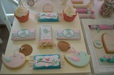 Deby B's Birthday / Birthday - Photo Gallery at Catch My Party 1st Birthday Photos, Birthday Parties, Shabby Chic, Bird Party, 1st Birthdays, Pastel, Cata, Irene, Chocolates