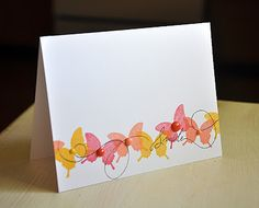 Happy Trails Revisited - Smile Card by Maile Belles for Papertrey Ink (August 2013)