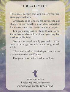 Today's Angel Card – Creativity - Diana Cooper