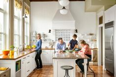 The plaque said the place was established as a church and a school in 1912.reader remodel contest winner 2013 whole house after with family in kitchen