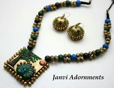 Terracotta Jewellery Making, Terracotta Jewellery Designs, Indian Jewellery Design, Jewelry Design, Funky Jewelry, Diy Jewelry, Antique Jewelry, Jewelry Sets, Handmade Jewelry