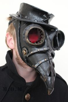 Steam Punk Plague Doctor mask and hat by Ministryofmasks on Etsy, £100.00