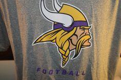 Minnesota Vikings TShirt Nike Drifit NFL Gray Logo Football Lightweight Mens XL #Nike #MinnesotaVikings
