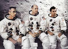 Da esquerda para direita, os astronautas da Apollo 10 Eugene Cernan, Thomas Stafford e John Young – Nasa/Divulgação