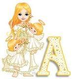 Alfabeto angelitos con mam�.