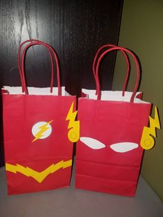 Flash Superhero Goodie Bags Loot Bags Favor Bags Treat Bags Party Bags  DC comics Justice league set of 10 by EventsDoneRight on Etsy