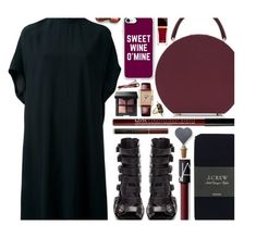 """""""Wine tasting"""" by sharmarie on Polyvore featuring Rick Owens, Ann Demeulemeester, J.Crew, BUwood, Sparq, Casetify, Kevyn Aucoin, NYX, NARS Cosmetics and Cartier"""