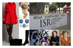 """Visiting the International School of Riga with her mother and First Lady Bush"" by dana-avots ❤ liked on Polyvore featuring Tiffany & Co., John Lewis and Aquatalia by Marvin K."