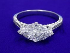 A new setting for an heirloom marquis diamond.