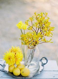 arrangement, decorations, lemons, centerpieces, other, floral, stripes