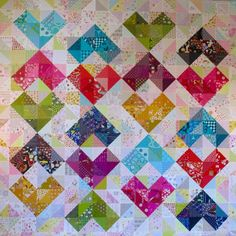 SEW KATIE DID/Warm and Cool Hearts Color Value Quilt
