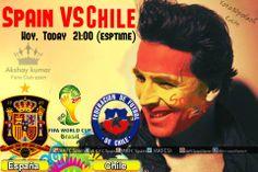 Selección Española de Fútbol (SeFutbol) Spain) VS #CHILE Hoy,(Today) 21:00 (esptime) FIFA World Cup 2014 #VamosEspña #FIFAWorldCupBrazil2014WatchWithAKFCS.