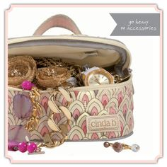 The cinda b jewelry case is perfect for taking your jewelry with you when you travel!