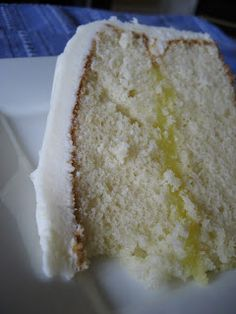 White Cake with Lemon Filling and Lemon Cream Cheese Frosting  For my momma's 80th birthday!!!