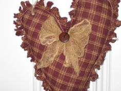 Primitive Valentine Heart  Hanging  by HomespunCreationsJDC, $12.95