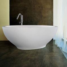 """Aquatica Karolina 70.875"""" H x 25.625"""" W Freestanding AquaStoneル Bathtub"""