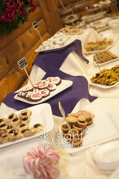 Traditional Pittsburgh cookie table with cute chalkboard signs identifying all our favorites made with love by family and friends  The Butler Family: Wedding D-I-mYself