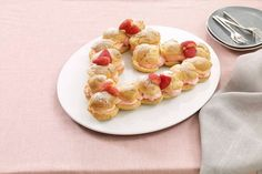 Yum. Golden-brown pastry puffs, filled with a creamy mixture of JELL-O Strawberry Flavor Gelatin, BAKER'S White Chocolate and COOL WHIP Whipped Topping.