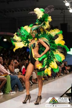 """Ashley Martin's """"Jamaica 50"""" inspired carnival costume. This is awesome on so many levels!!!"""