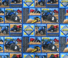 New Holland Tractor Patch 100% Cotton Fabric