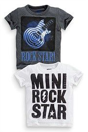 Next Guitar T-Shirts Two Pack (3mths-6yrs)