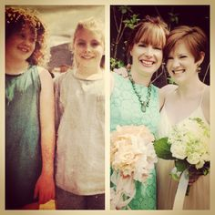 Best friends/bridesmaids then and now