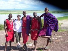 My guides in Kenya and a guest:  Come on over to findyourselfinafr... ONE Trip Can Change Everything!