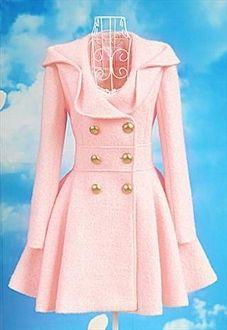 Pink Lady Woollen Coat