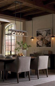 ambiance et cachet trs chaleureux pour la salle manger progress lighting briarwood luminaire suspendu
