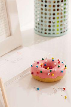 Desk Donut Pushpins + Holder Set - Urban Outfitters