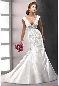 3/4 Länge Ärmel  Designer Brautkleider