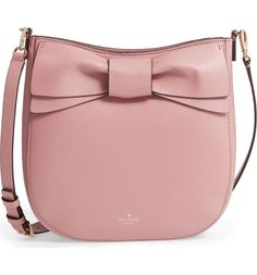a899aebee6 Kate Spade olive drive - robin leather crossbody bag. A signature bow  underscores the cosmopolitan