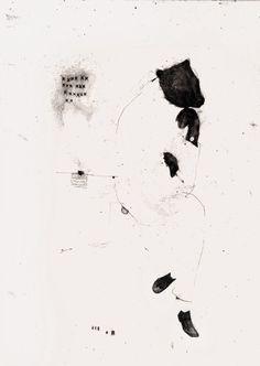 """benjamin parker; Graphite, 2011, Drawing """"The pensive bear"""""""