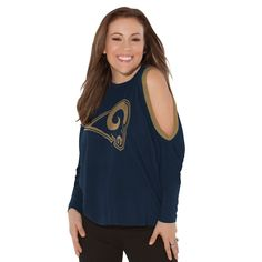 Los Angeles Rams Touch by Alyssa Milano Women's Project Runway All Star Long Sleeve Dolman T-Shirt - Navy