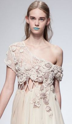 Beautiful work from Rachel Decker - Student #Crochet #Fashion Designer